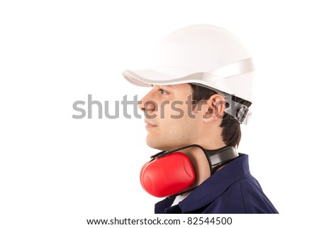 Worker portrait - stock photo