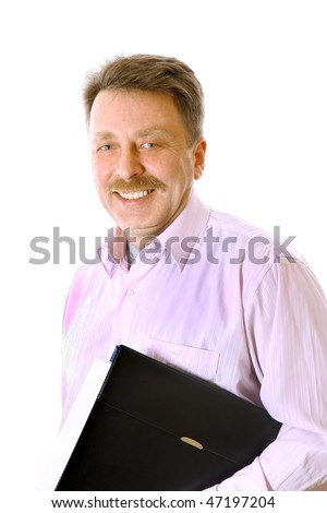 Worker portraits - stock photo