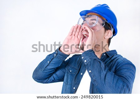 worker shouting