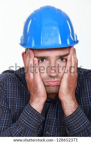 Worker under pressure - stock photo