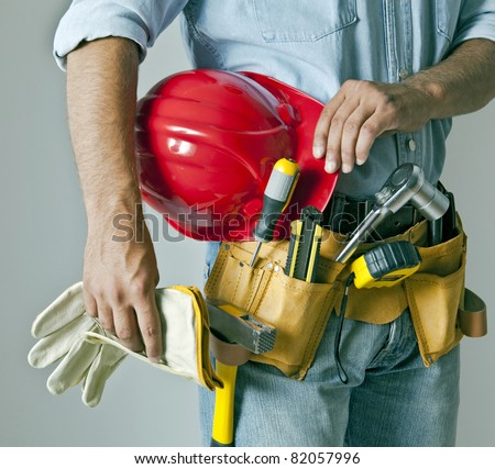 Worker with tool - stock photo