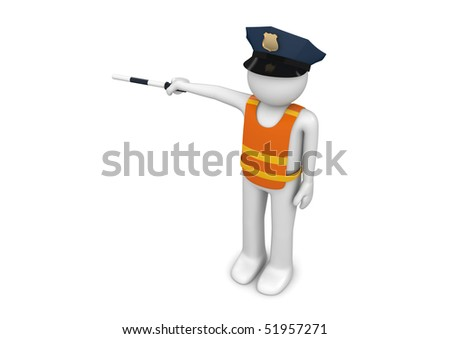 Workers collection - Traffic controller - stock photo