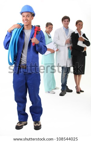 Workers from different domains - stock photo