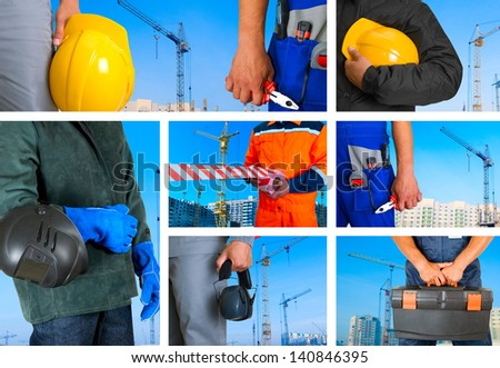 workers sets - stock photo