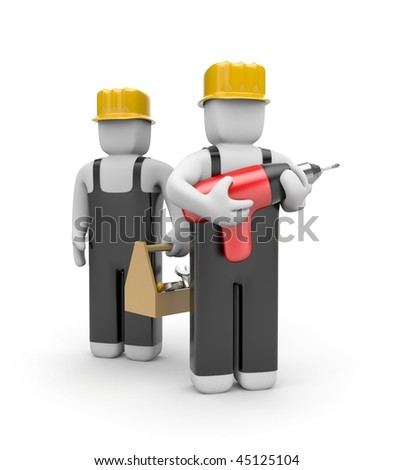 Workers team - stock photo