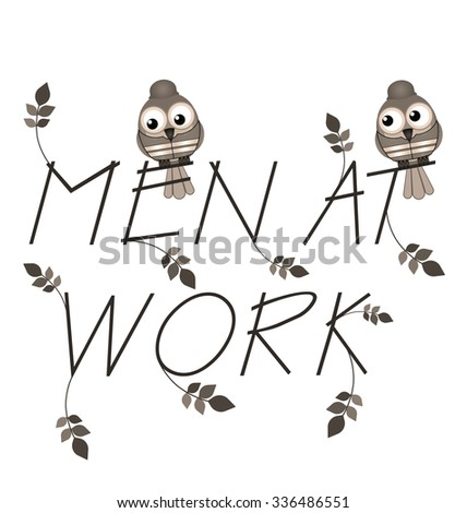 Workers twig text isolated on white background - stock photo