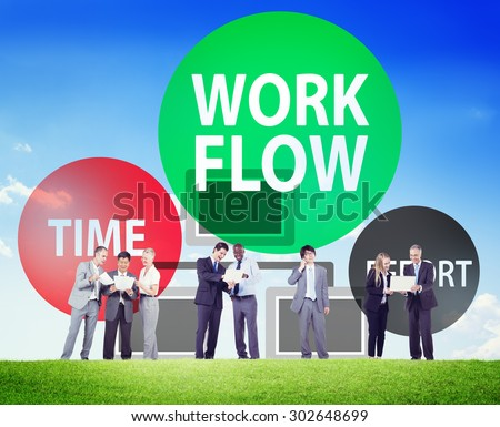 Workflow Effort Implement Efficiency Business Concept - stock photo