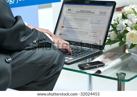 Workflow management in the office - stock photo