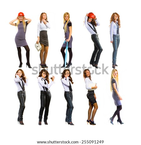 Workforce Concept Isolated over White  - stock photo
