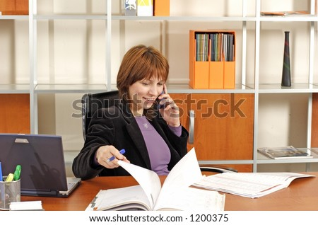working business woman - stock photo