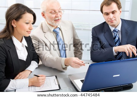 Working  businesspeople in an office