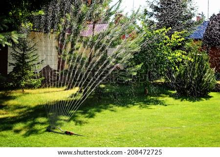 Garden Sprinkler Stock Images RoyaltyFree Images Vectors