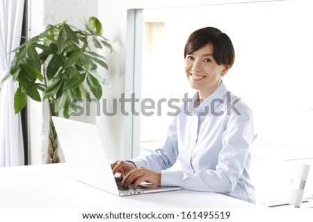 Working girl - stock photo