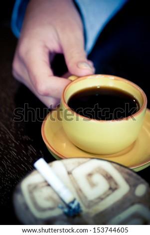 working girl's breakfast - stock photo