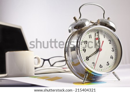 Working hours concept - stock photo
