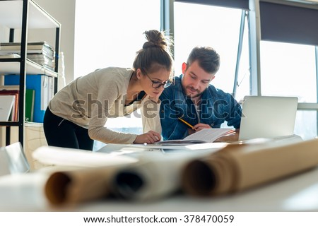 Working in office - stock photo