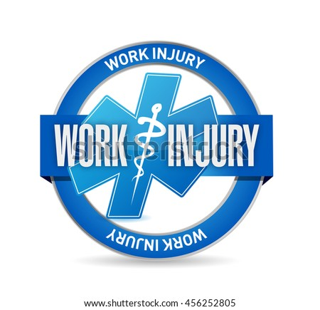 Working injury seal sign concept graphic illustration design - stock photo