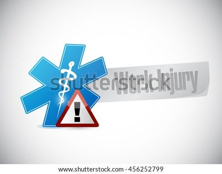 Working injury sign concept graphic illustration design - stock photo
