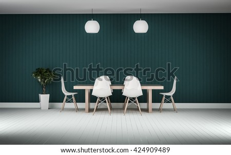 working meeting room with white photo frame wood floor 3d rendering