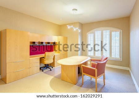 Working office room in a luxury house