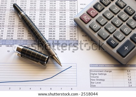 Working on Numbers - stock photo