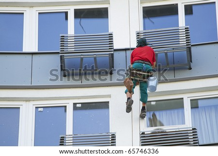 Working on the heights - stock photo