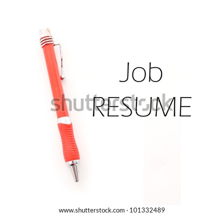 Working on Your Resume - stock photo