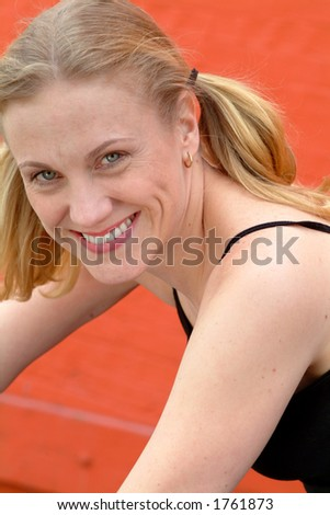 working out - stock photo