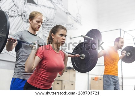 Working out at the Gym - stock photo