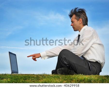 Working outdoor - stock photo
