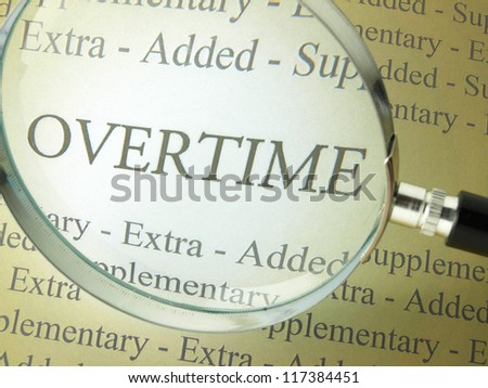 Working overtime - stock photo