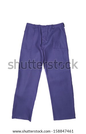 Working Pants Isolated On a White Background