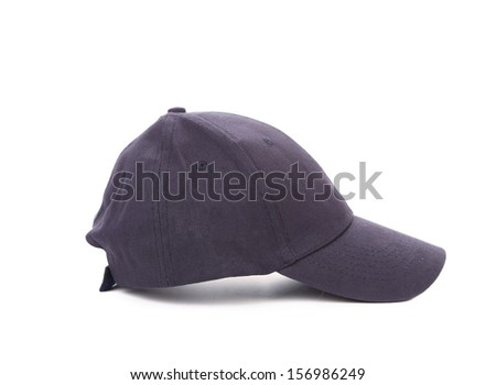 Working peaked cap. Side view. Isolated on a white background. - stock photo