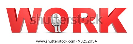 Working. Person with notebook. Image contain clipping path - stock photo