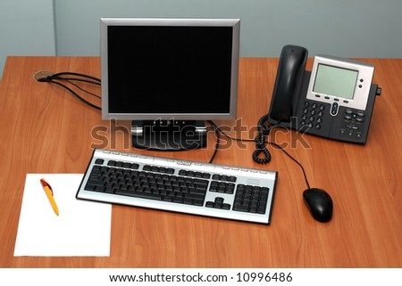 Working place - stock photo