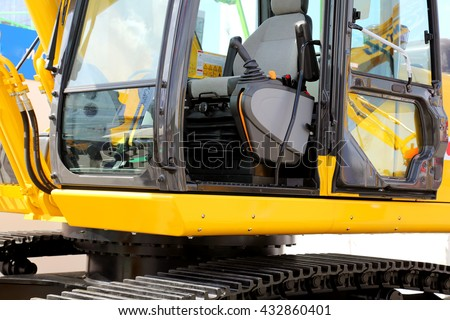 Working place for the driver of the excavator