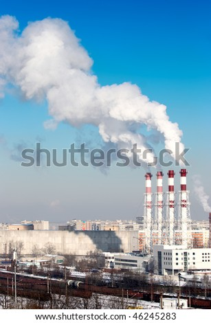 Working power station - stock photo