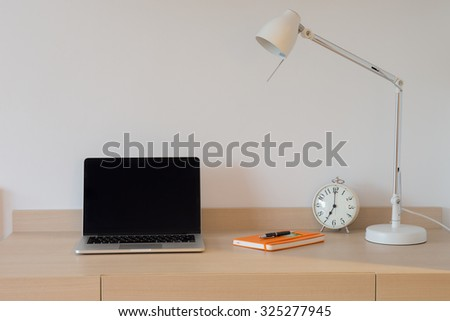 Working space. - stock photo