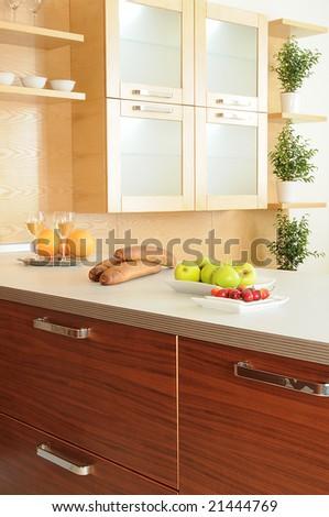 working space on modern kitchen. Series 21444775, 21444772, 21389548, 21336115, 21336118 - stock photo