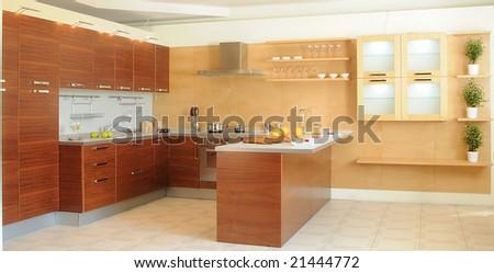 working space on modern kitchen. Series 21444775, 21444769, 21389548, 21336115, 21336118 - stock photo