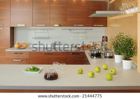 working space on modern kitchen. series 21444772, 21444769, 21389548, 21336115, 21336118 - stock photo