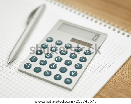 Working table - stock photo