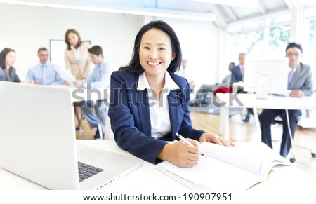 Working time in the office - stock photo