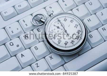 Working under pressure concept - stock photo