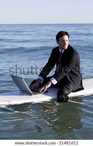 Working Vacation - stock photo