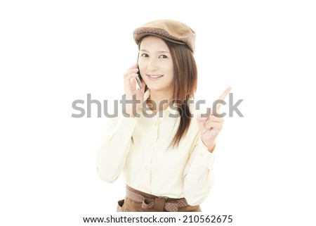 Working waitress  - stock photo