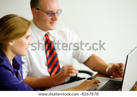Working with the laptop