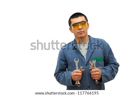 Working with tools - stock photo