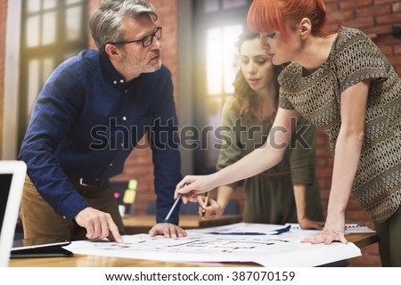 Working with young and creative people - stock photo