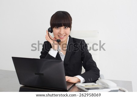working woman - stock photo